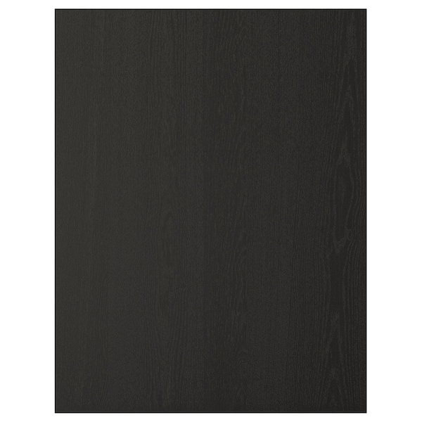 LERHYTTAN Cover panel, black stained, 62x80 cm