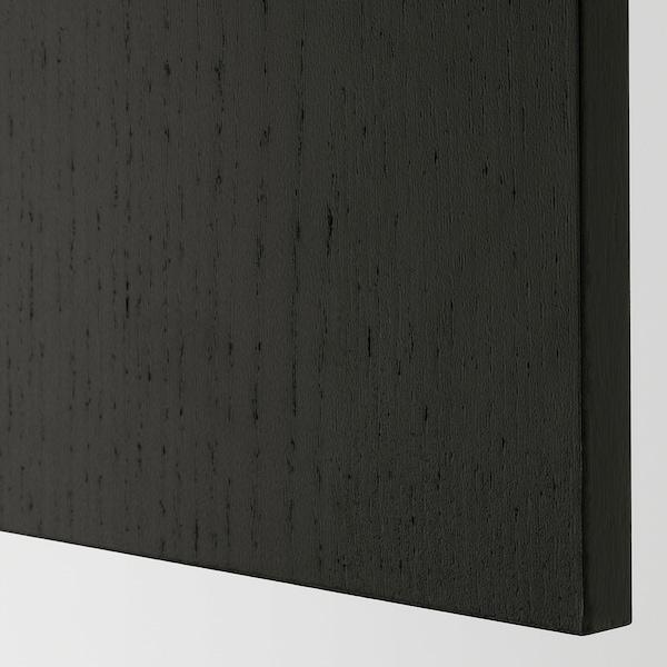 LERHYTTAN cover panel black stained 39.3 cm 84.5 cm 1.3 cm