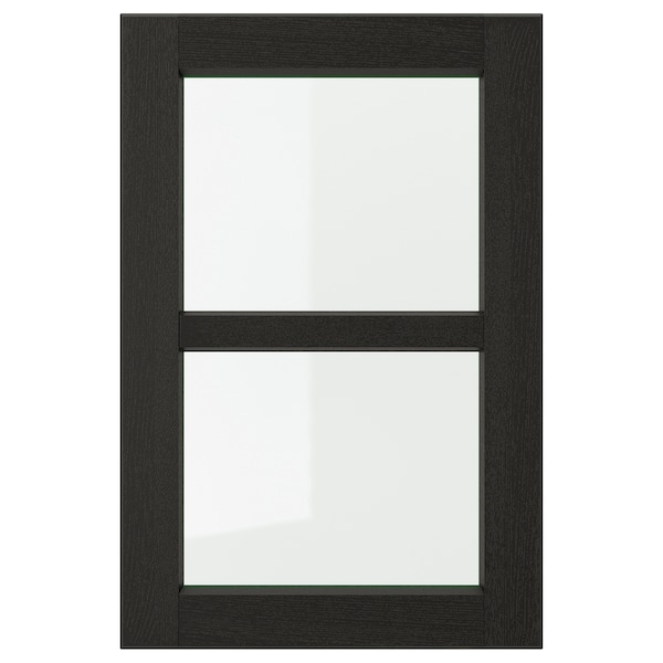 LERHYTTAN Glass door, black stained, 40x60 cm