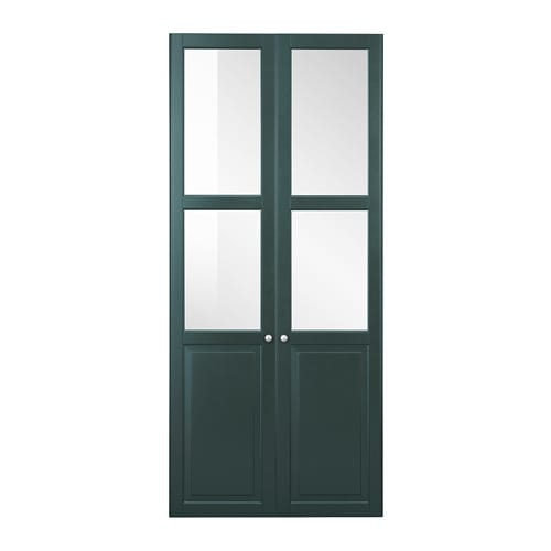 liatorp panel glass door dark olive green ikea. Black Bedroom Furniture Sets. Home Design Ideas