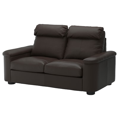 LIDHULT 2-seat sofa-bed, Grann/Bomstad dark brown