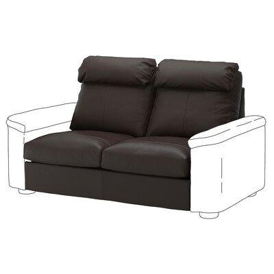 LIDHULT 2-seat sofa-bed section, Grann/Bomstad dark brown