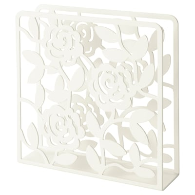 LIKSIDIG Napkin holder, white, 16x16 cm