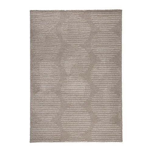 LILLERÖD Rug, high pile   The dense, thick pile dampens sound and provides a soft surface to walk on.