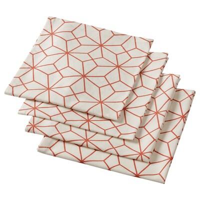 LJUV منديل, أبيض/مطبوع, 45x45 سم