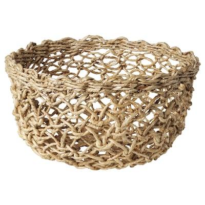 LOKALT Basket, banana fibre/handmade, 20 cm