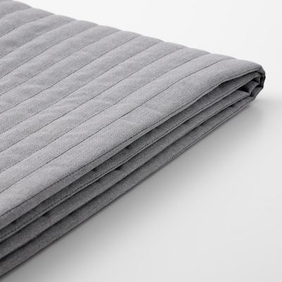 LYCKSELE غطاء كنبة سرير ومقعدين, Knisa رمادي فاتح