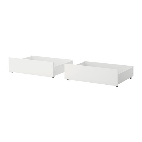 malm bed storage box for high bed frame white ikea - Malm Bed Frame High