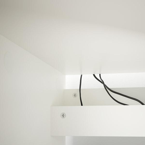 MALM مكتب, أبيض, 140x65 سم