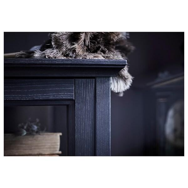 MALSJÖ طاولة تلفزيون مع أبواب إنزلاقية, صباغ أسود, 160x48x59 سم