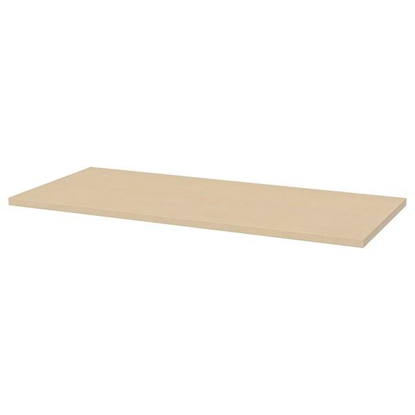 MÅLSKYTT / OLOV Desk, birch/white, 140x60 cm