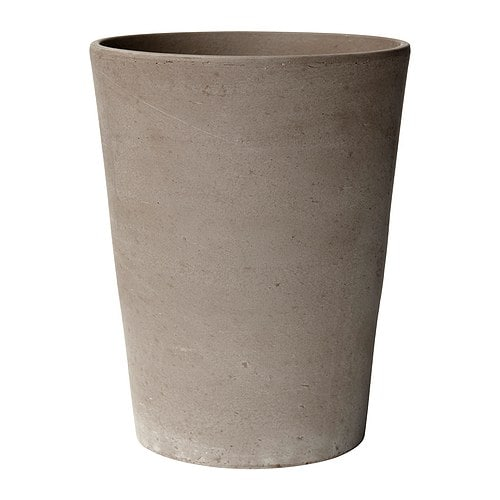 MANDEL Plant pot   The shape and height of the pot make it suitable for orchids.  Space for air to circulate around the roots.