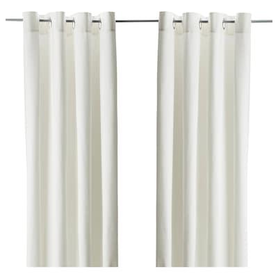 MERETE Room darkening curtains, 1 pair, white, 145x300 cm