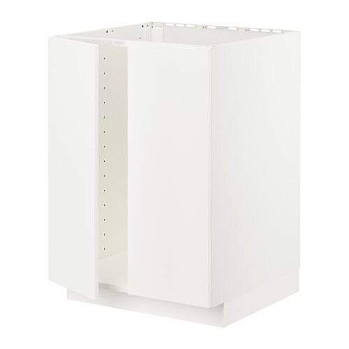 Metod Base Cabinet For Sink 2 Doors White Veddinge