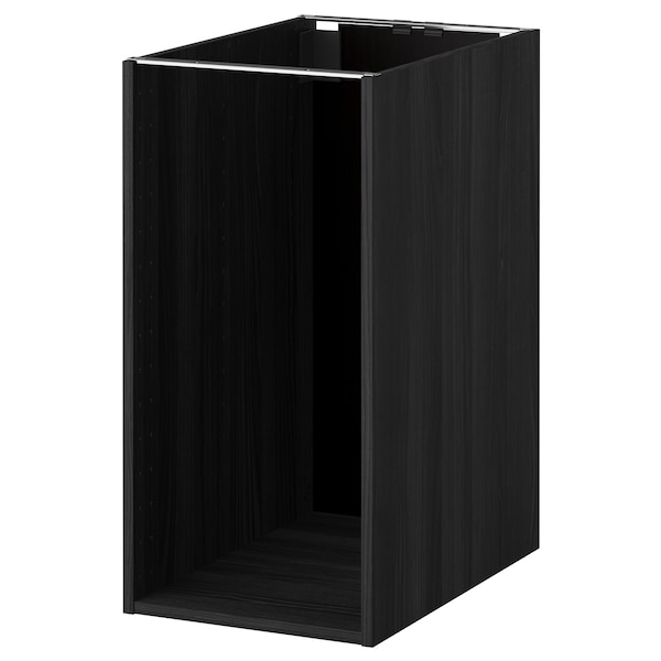 METOD Base cabinet frame, wood effect black, 40x60x80 cm