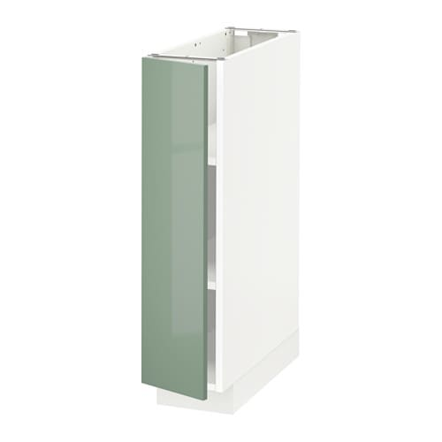 Metod Base Cabinet With Shelves White Kallarp High Gloss Light