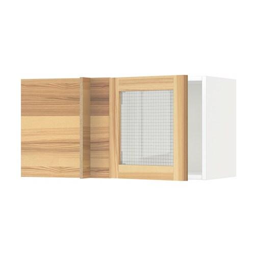 Metod Corner Wall Cabinet With Glass Door Ikea