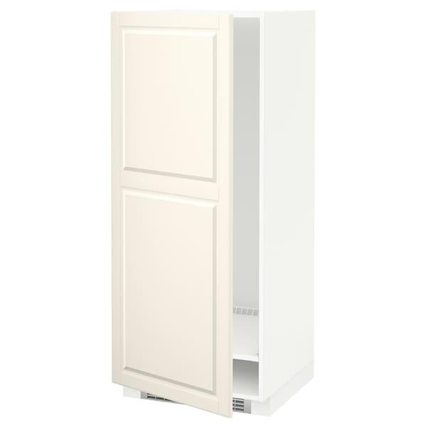 METOD خزانة مرتفعة للثلاجة/الفريزر, أبيض/Bodbyn أبيض-عاجي, 60x60x140 سم