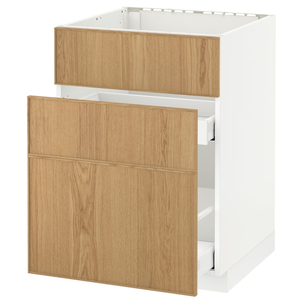 Metod Maximera Base Cab F Sink 3 Fronts 2 Drawers White