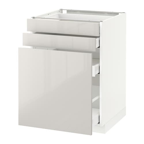 METOD / MAXIMERA Base Cab Pull Out Storage/2 Fronts IKEA The Drawers Close Part 97
