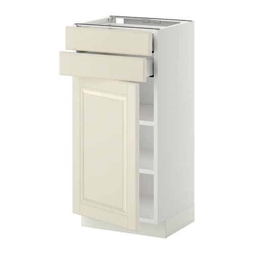 METOD / MAXIMERA Base cabinet w door/2 drawers - white, Bodbyn off ...
