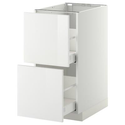 METOD / MAXIMERA خ. قاعدة 2 واجهة/2 أدراج علوية, أبيض/Ringhult أبيض, 40x60 سم