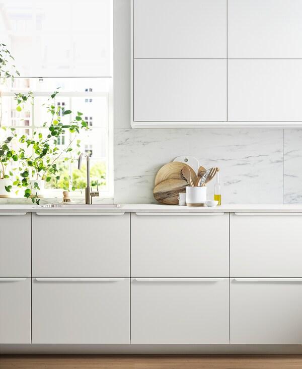 METOD / MAXIMERA خزانة عالية بأدراج, أبيض/Veddinge أبيض, 60x60x200 سم
