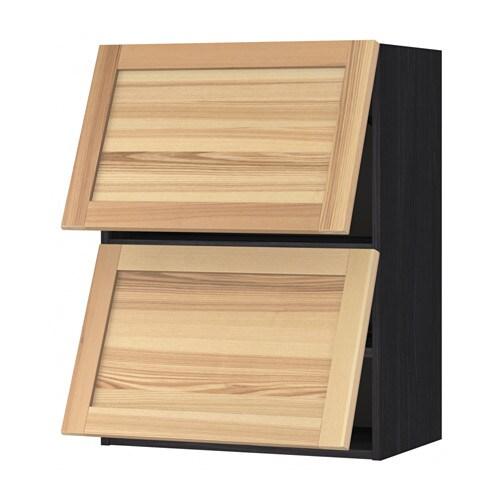 Delightful METOD Wall Cabinet Horizontal W 2 Doors, Black, Torhamn Ash Wood Effect  Black Torhamn