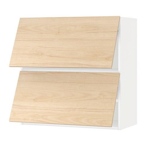 METOD Wall cabinet horizontal w 2 doors IKEA Door lift with catch for gentle closing included
