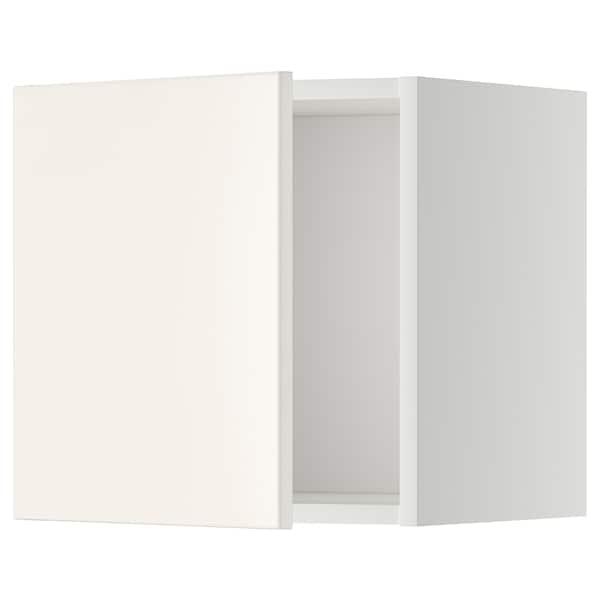 METOD Wall cabinet, white/Veddinge white, 40x40 cm