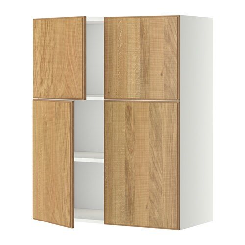 Great METOD Wall Cabinet With Shelves/4 Doors