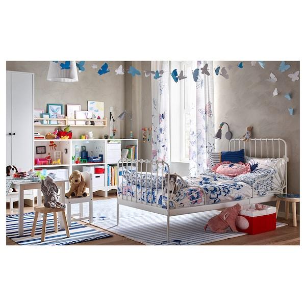 MINNEN سرير قابل للتمديد مع قاعدة شرائحية, أبيض, 80x200 سم
