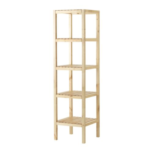 MOLGER Shelving unit   The open shelves give an easy overview and easy reach.
