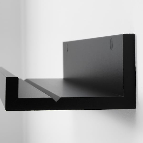 MOSSLANDA Picture ledge, black, 55 cm