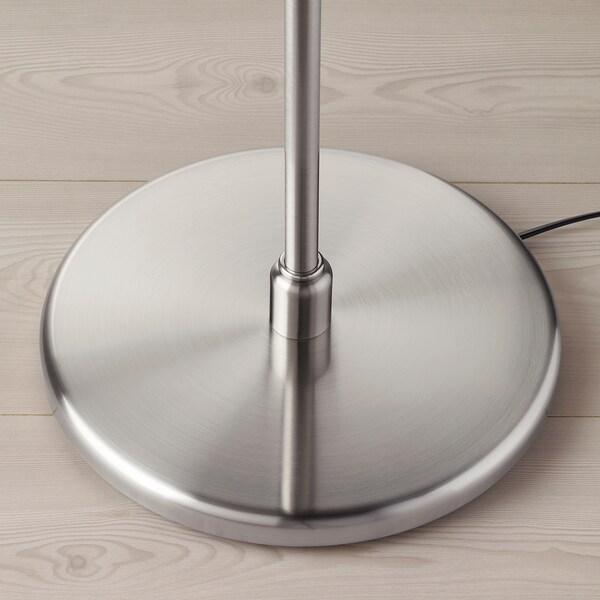 MYRHULT / KRYSSMAST Floor lamp, white/nickel-plated