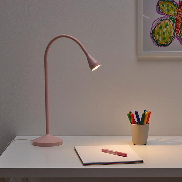 NÄVLINGE LED work lamp, light pink