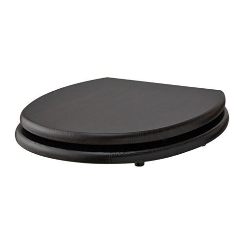 wooden black toilet seat. N MMEN Toilet seat  IKEA