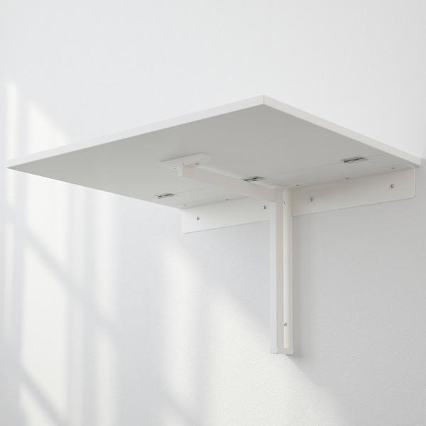 NORBERG طاولة تطوى مركبة على الحائط, أبيض, 74x60 سم