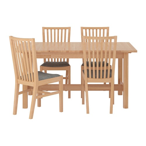 NORDEN / NORRNÄS Table and 4 chairs