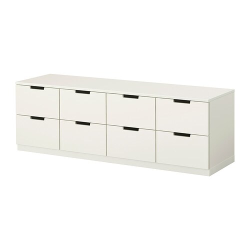 NORDLI Chest of 8 drawers   You can use one modular chest of drawers or combine several to get a storage solution that perfectly suits your space.