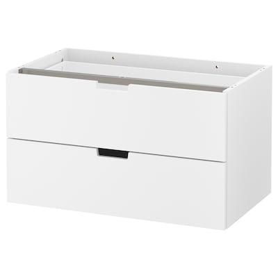 NORDLI Modular chest of 2 drawers, white, 80x45 cm