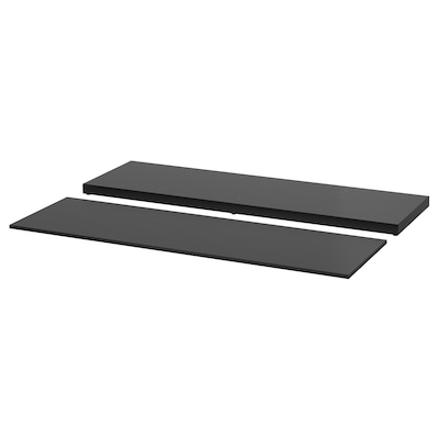 NORDLI Top and plinth, anthracite, 160x47 cm