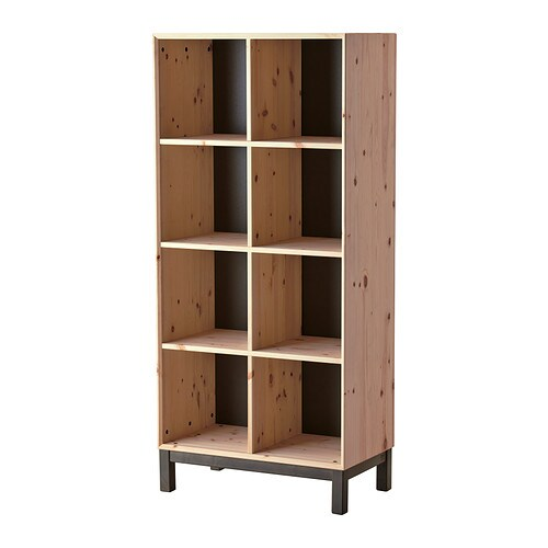 NORNÄS Bookcase   Untreated solid pine is a durable natural material that can be painted, oiled or stained according to preference.