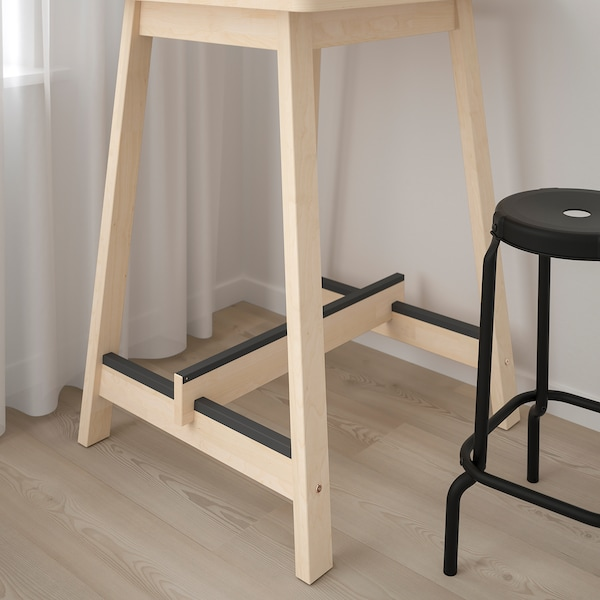 NORRÅKER Bar table, birch, 74x74 cm