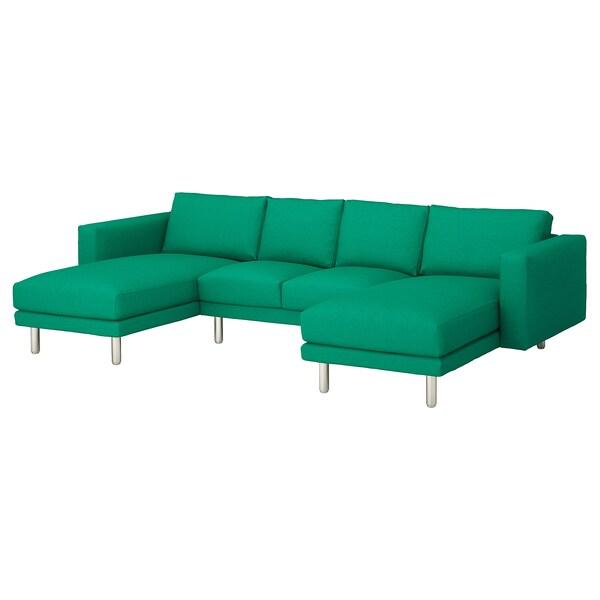 NORSBORG كنبة 4 مقاعد, مع كرسي أسترخاء/Edum أخضر مشرق/معدني
