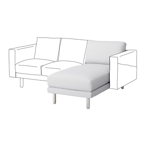 norsborg chaise longue section finnsta white metal ikea. Black Bedroom Furniture Sets. Home Design Ideas