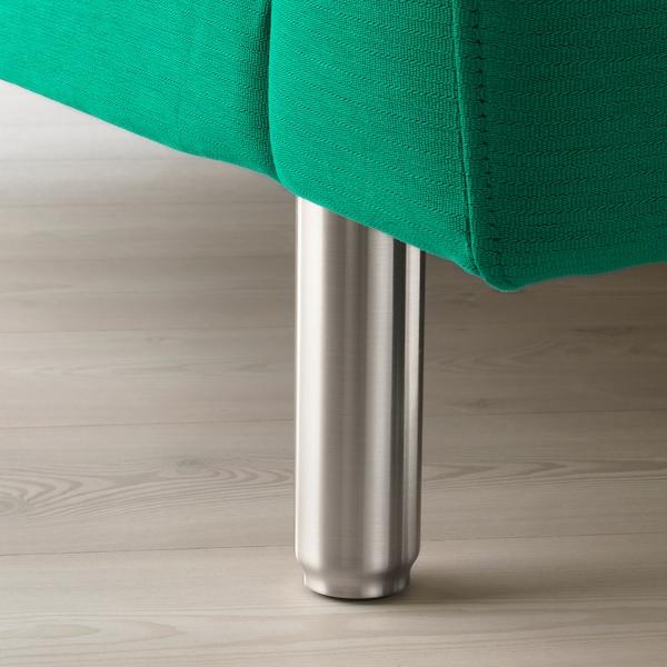 NORSBORG كنبة زاوية، 5 مقاعد, Edum أخضر مشرق/معدني