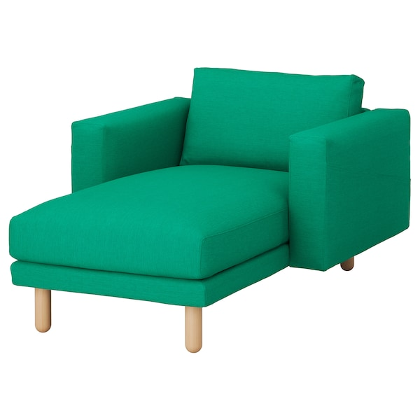 NORSBORG Cover for chaise longue, Edum bright green