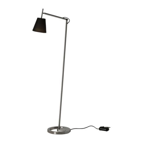 NYFORS Floor/reading lamp   You can easily direct the light where you want it because the lamp arm and head are adjustable.