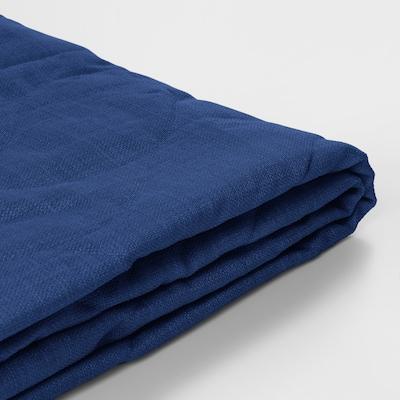 NYHAMN غطاء كنبة - سرير 3 مقاعد, Skiftebo أزرق